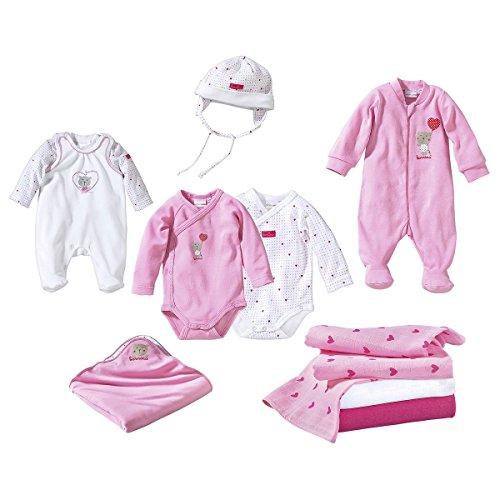 BORNINO Erstausstattungs-Set 10-tlg. Baby-Unterwäsche Babykleidung Bekleidungspaket,...