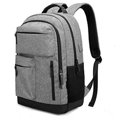 wasserdichte Laptop Rucksack Herren Damen mit USB-Ladeanschluss Jungen Schulrucksack Business Daypack Reiserucksack für College Schule Arbeit Camping -