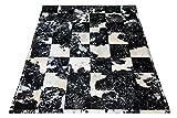 Sit Möbel 1027-21 Teppich This und That, 200 x 300 cm, gefärbtes Kuhfell, Dessin Silber auf schwarz/weiß