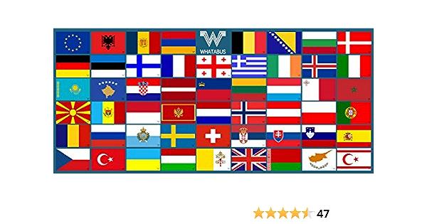 Whatabus Europa Plus Aufkleber Set 53 Sticker 8 5 X 5 5 Cm Auto