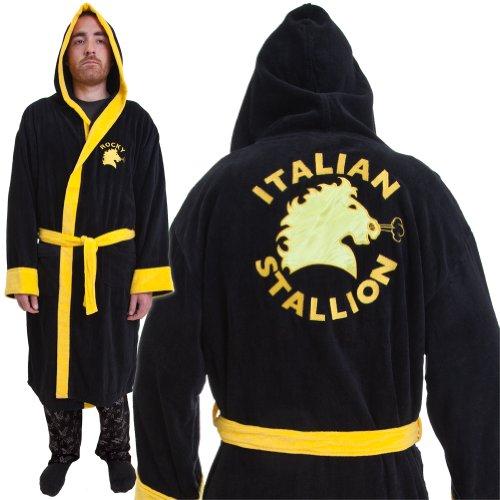 Old Glory Rocky Italian Stallion algodón Albornoz Home Décor