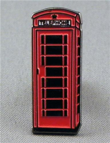 Metal Enamel Pin Badge Red Telephone Box (BT Phone) by Mainly Metal
