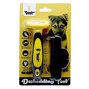 Brosse de toilettage professionnelle Thunderpaws D-Shedz pour les races de chiens et chats à poils courts ou longs