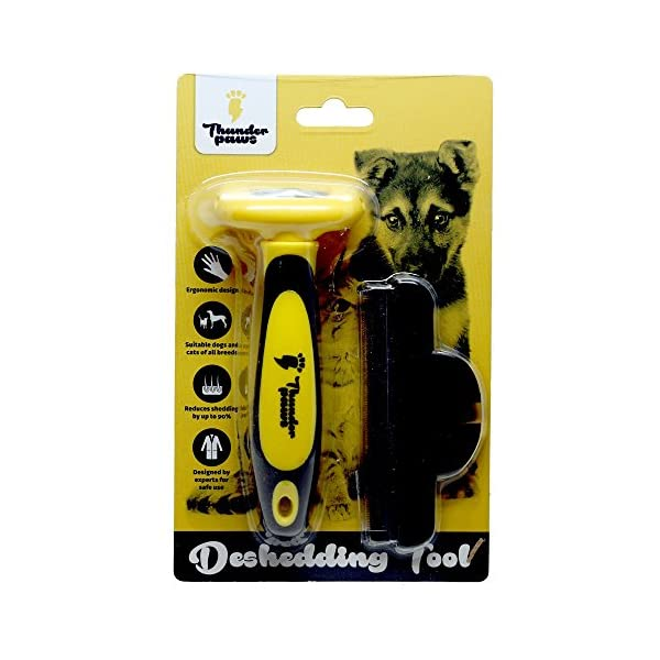 Thunderpaws Professional De-shedding Tool and Pet Grooming Brush, D-Shedz for Breeds of Dogs, Cats with Short or Long Hair, Small, Medium and Large 8