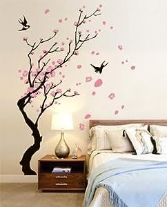 00728 adesivi murali 39 39 rami con rondini 39 39 stickers for Adesivi per pareti cucina