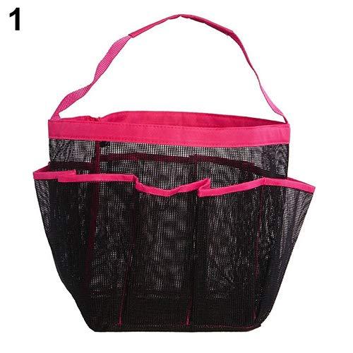 newhashiqi 8-teilige Badezimmer-Tragetasche, mit einem Griff, große Tasche, Duschanhänger, Aufbewahrungstasche Rose-red (Poster College-wohnheim)