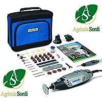 DREMEL Kit Multiutensile Con 105 Accessori, Albero Flessibile, Manuale Istruzioni, Custodia