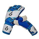 Wamsatto Torwarthandschuhe Kinder Jugendliche Fußball Handschuhe Torwart Geräte,Blau,7