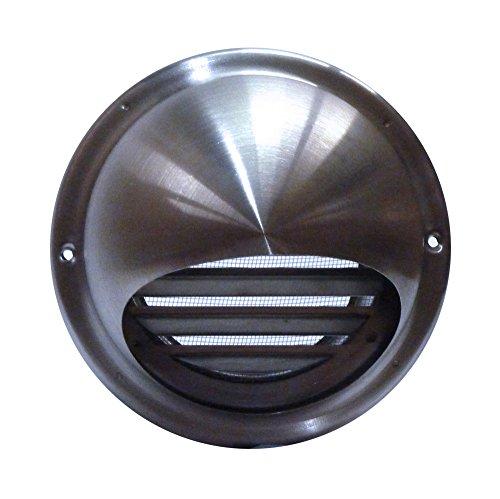 Airflow 52644501 - Rejilla de ventilación redonda con cubierta (acero inoxidable 100...