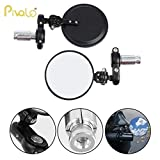#1: Pivalo 2Pcs Adjustable, Rotating and Foldable Convex Handlebar End Mirror for 7/8