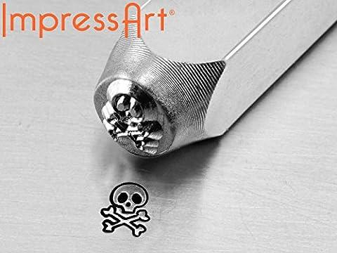 Impressart Skull & Bones Design Stamp 6mm - (999 IA17)