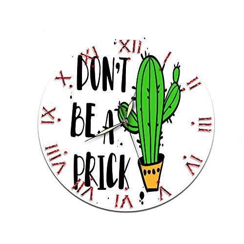 Zuonuoo Süße Kaktus dekorative Acryl Uhr Stumm Nordic Wohnzimmer weiblich männlich Uhr clockCTT-117 (Rolex-uhren Männliche)