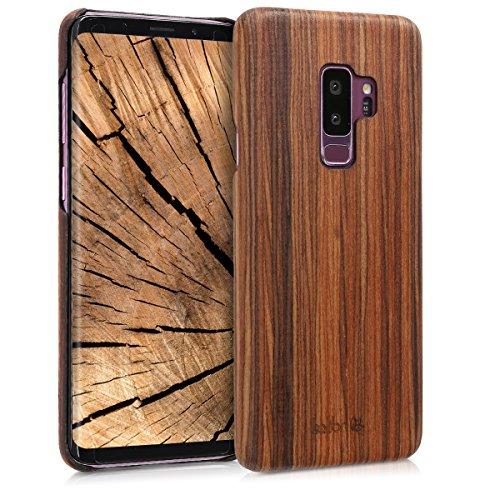 kalibri-Holz-Case-Hlle-fr-Samsung-Galaxy-S9-Plus-Handy-Cover-Schutzhlle-aus-Echt-Holz-und-Kunststoff-Mix-Lindenholz-in-Braun