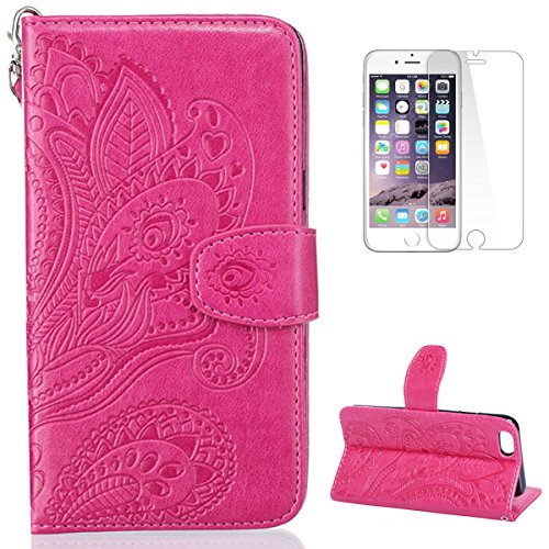 CaseHome iPhone 6/6S 47\'\' Hülle Geprägter Henna Blume Muster ...
