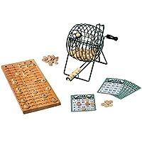 Small Foot Company 1831 Bingospiel ab 6 Jahren mit 24 Spielkarten, 75 Kugeln und 150 Spielchips aus Holz und Bingotrommel