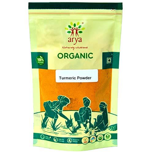 Arya Farm Organic Turmeric Powder, 100g (Pack of 2)