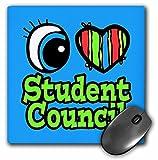 3drose Bright Eye Herz I love Student Rat Maus Pad, 20,3x 20,3cm (MP _ 106575_ 1)