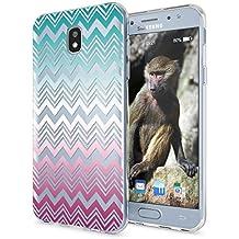 Samsung Galaxy J5 2017 (EU-Modell) Funda Carcasa de NICA, Protectora Movil TPU Silicona Ultra-Fina Gel Transparente / Cubierta Goma Bumper Cover Case Clear para J5-2017, Designs:Colorful Lines