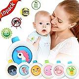ICheap Anti Mücken Schnalle 10 Stück, Mosquito Repellent Button 100% Natürliches Mückenschutz Schnalle für Kinder und Erwachsene, Outdoor und Innenschutz