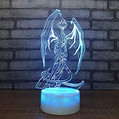 YDBDB Decoración del hogar Iluminación Dormitorio Regalos Forma de quilla 3D Luces...