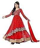 Clickedia Women's Net Anarkali - Dress M...