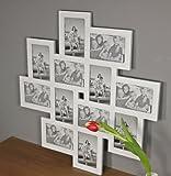 elbmöbel Bilderrahmen Fotorahmen Collage groß in weiß aus Holz für die Mehrfach Fotowand