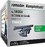 Rameder Full Set quadratisch Dach Rack Bar für Skoda Octavia Combi (115961â 11196â–Â 92)