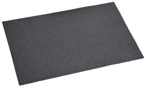 KESPER 77540 Set de Table en plastiqué en Noir 43x29x0,1cm, Plastique, 43,5x28x0,07 cm