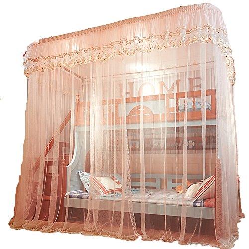 Zanzariere zanzariera mosquito nets mosquito net letto a castello bold pista in acciaio inox tingting (colore : jade, dimensioni : 250*150*265)