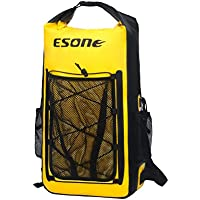 ESONE Waterproof Dry Bag/Bolsa Seca Impermeable/Unisex Mochila Aire Libre/Morral Que Acampa/Bolsas Viaje/Paquete de Admisión Amarillo
