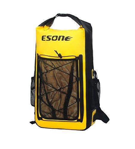 39e9eb729096 ESONE Waterproof Dry Bag/Bolsa Seca Impermeable/Unisex Mochila Aire  Libre/Morral Que Acampa/Bolsas Viaje/Paquete de Admisión Amarillo