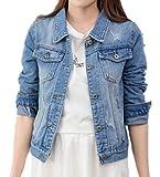 Kerlana Frauen Basic Mäntel Herbst und Winter Damen Jeansjacke Vintage Lose Mädchen Mantel Beiläufige Outwear Knopf Oberteile
