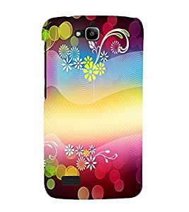 printtech Flower Bokeh Pattern Back Case Cover for Huawei Honor Holly