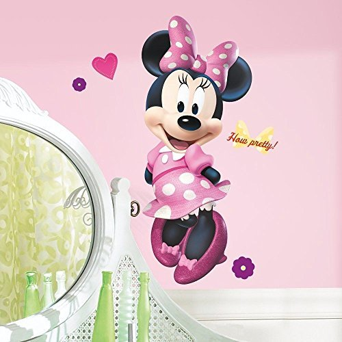 MINNIE MOUSE BOW-TIQUE 40 Giant WALL DECAL Disney Room Stickers Pink Decor by Sticker Hot