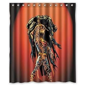 Batman Superman Shower Curtain Bathroom Waterproof Fabric Set With 12 Hooks Decor 60x72 Inches
