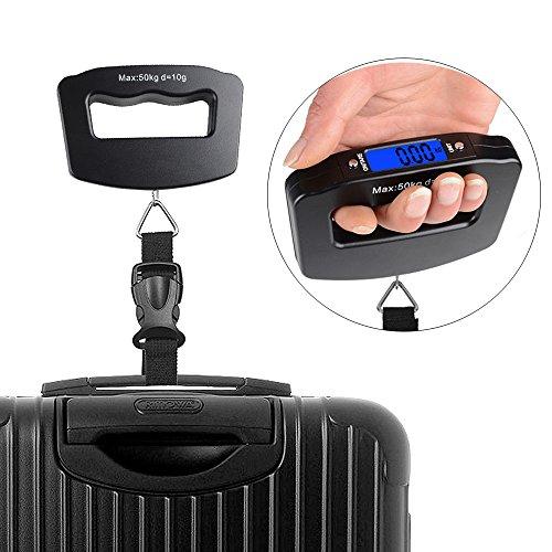 50KG Digital Travel Portable Handheld Weighing Luggage Scales Suitcase Bag LCD
