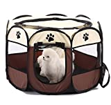 Best Pet Dog Crates - Portable Pet Dog Cat Playpen Cages Crates Play Review