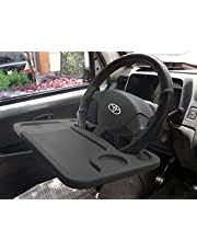 Lifestyle-You™ Multifunctional Car Laptop Food Steering Wheel Tray Drink Holder Desk (Black)