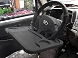 This double sided car steering tray can fix to the steering wheel in seconds without any hassle or need of any tools. It can be removed as easily and in seconds. It works as a writing table or as a platform for your laptop computer. A must have acces...