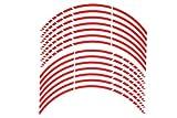 Seitronic GP Design Felgenrandaufkleber + Felgenaufkleber Auto & Motorrad 17 Zoll 3mm - 15mm in GP 17 Zoll Super glossy china red (3mm)