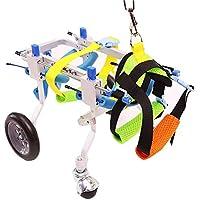 DWhui Perro Mascota Carro de Silla de Ruedas con 4 Ruedas para discapacitados Patas traseras Caminar