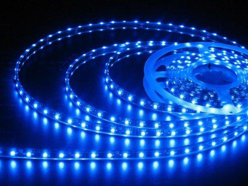 JnDee™ Blau Blue Leiste 1M 60 flexiable LED Strip Streifen LED Band Lichtlinie Wasserdicht/ 1 Meter mit 60 SMD 3528 LEDs DC 12V - ideal für Küche, HOME LED-Beleuchtung, BARS, Restaurants, etc. ** GRATISVERSAND! 1m 12v Led Strip