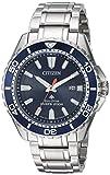Citizen Herren-Armbanduhr 45mm Armband Edelstahl + Gehäuse Quarz BN0191-55L
