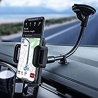 Mpow Soporte Móvil Coche, Sujeta Movil Coche Moviles Brazo Largo Soporte Movil Parabrisas, Soporte Telefonos Moviles Coche con Botón de Liberación Rápida para iPhone XS Max/XS/XR/X/8/7/6 Plus y Otros