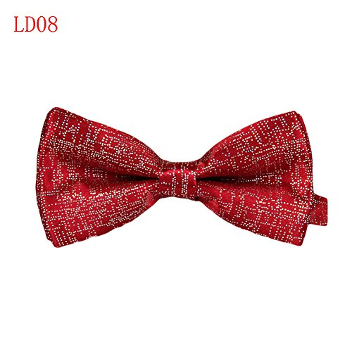 Meijunter Mode Classique Mens Tuxedo Polyester réglable Bowtie de soirée de mariage cravate LD08
