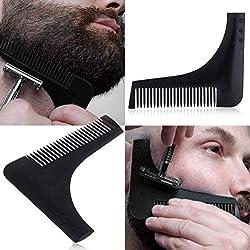 Nouveau peigne barbe formant outil sexe homme gentilhomme barbe garniture modèle cheveux coupés moulure de cheveux modèle de garniture barbe Modellin,2pcs