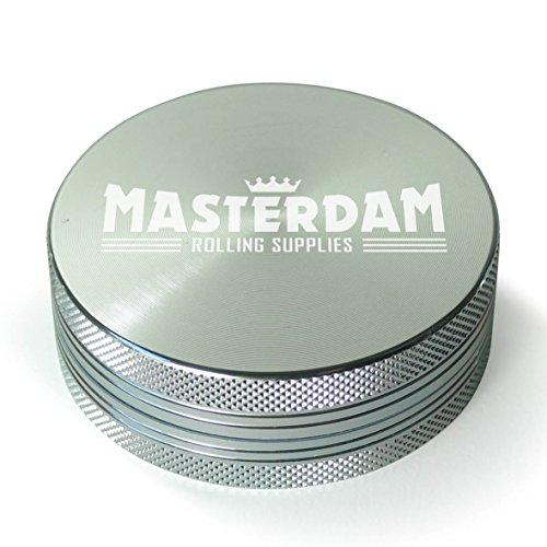 MasterGrind serie Shield Macina erbe in alluminio per herb-spices-tobacco [Parent] Large (2.5 inch) argento
