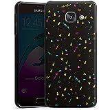 Samsung Galaxy A3 (2016) Housse Étui Protection Coque Ananas Éclair Noir