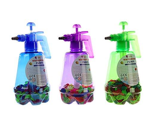 XXL Wasserbomben Set Pumpe Füllflasche mit 200 Wasserbomben Füllhilfe Wasser Ballons Badespaß