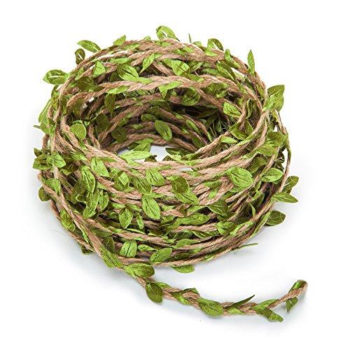 Guirnalda de hojas artificiales, una vid de estilo rústico, para decoración del hogar, de bodas, de 20 m
